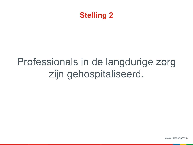 www.factcongres.nl Stelling 2 Professionals in de langdurige zorg zijn gehospitaliseerd.