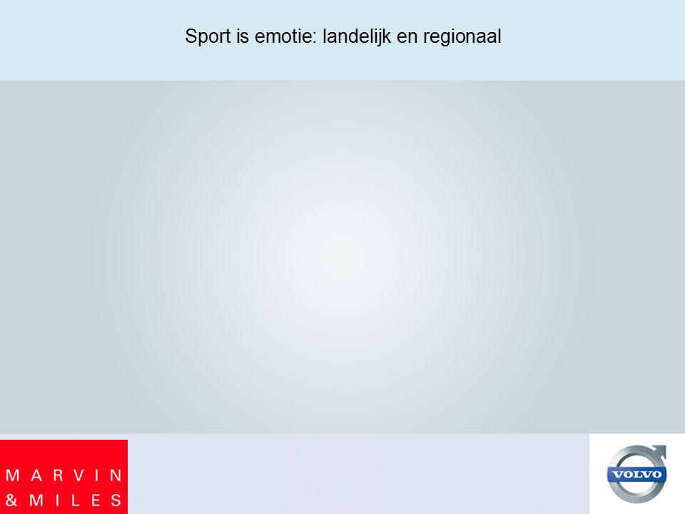 Sport is emotie: landelijk en regionaal
