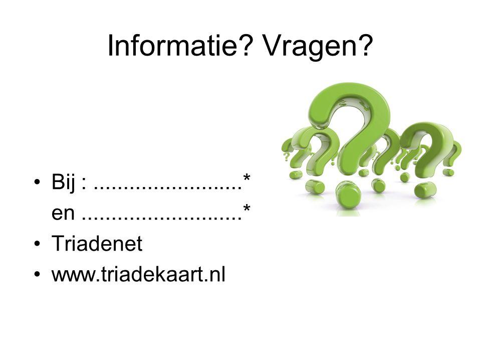 Informatie. Vragen.