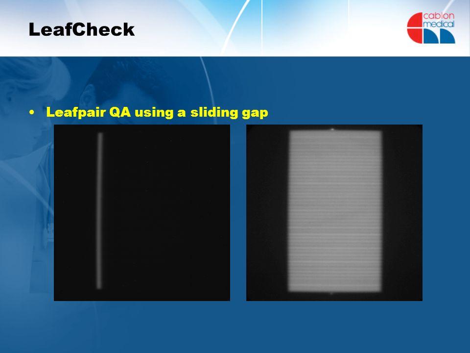 LeafCheck Leafpair QA using a sliding gap