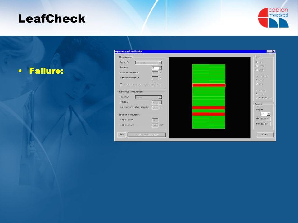 LeafCheck Failure: