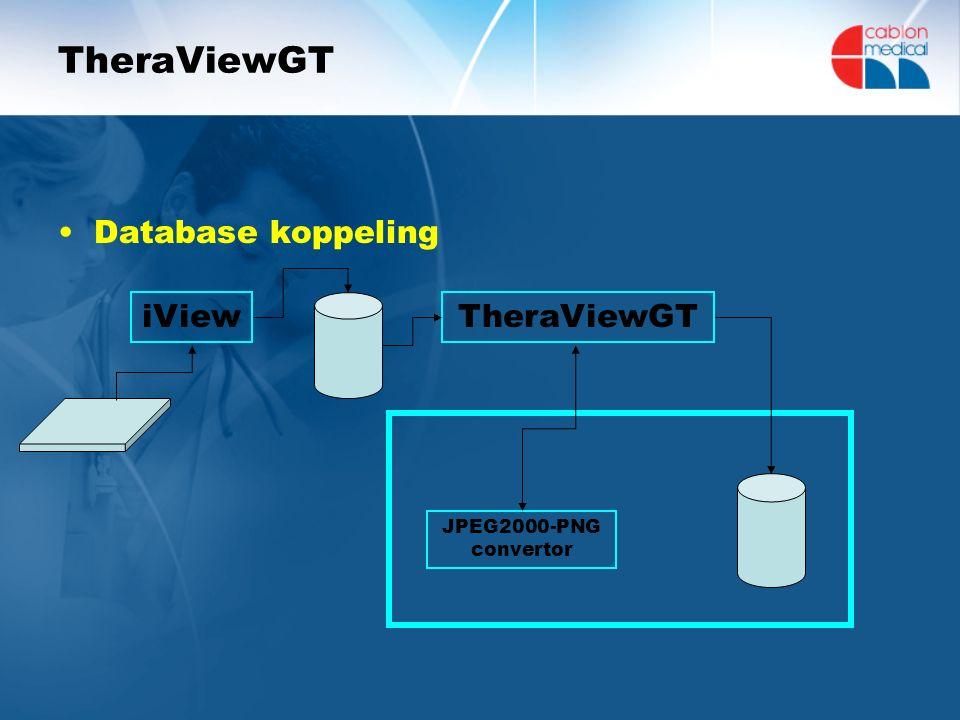 TheraViewGT Database koppeling iViewTheraViewGT JPEG2000-PNG convertor