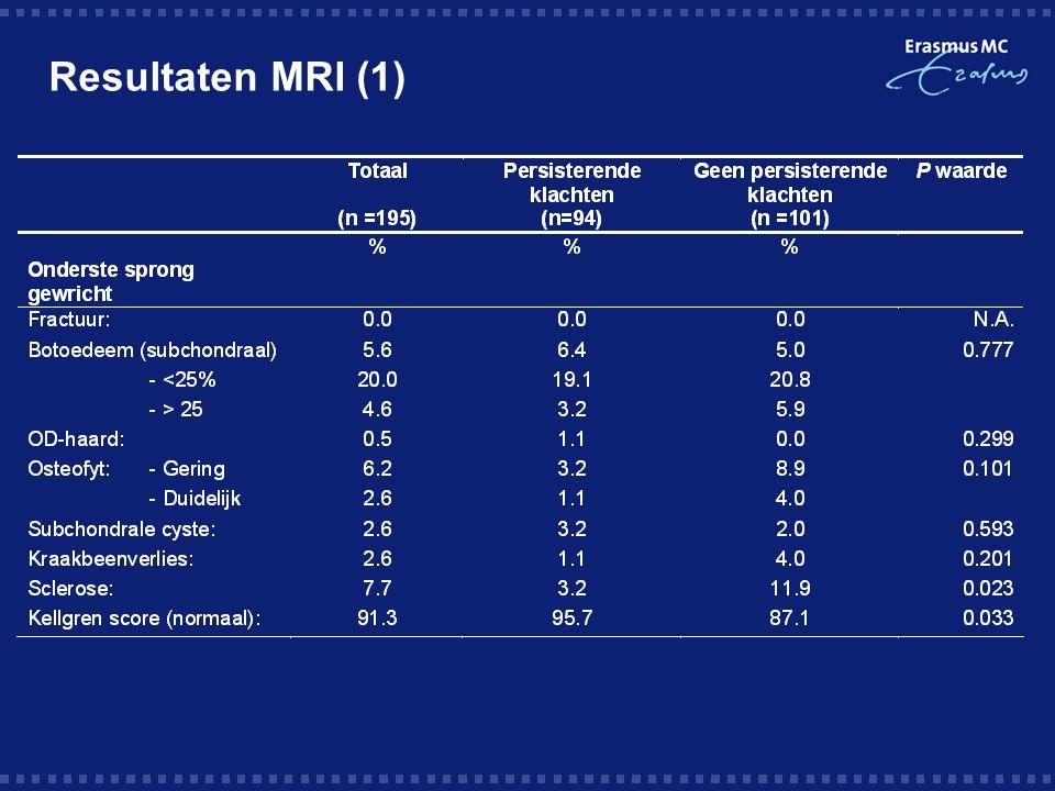 Resultaten MRI (1)