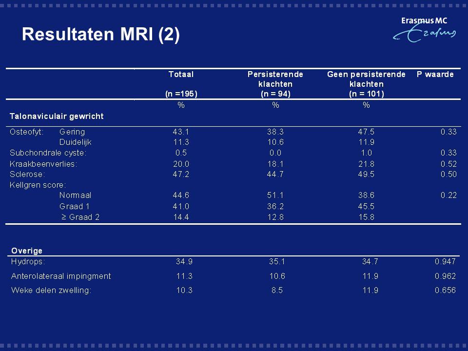 Resultaten MRI (2)
