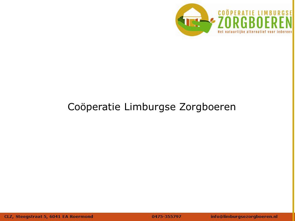 Naam afbeelding Verdana 20 DIK Coöperatie Limburgse Zorgboeren CLZ, Steegstraat 5, 6041 EA Roermond0475-355797info@limburgsezorgboeren.nl