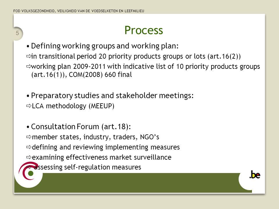 FOD VOLKSGEZONDHEID, VEILIGHEID VAN DE VOEDSELKETEN EN LEEFMILIEU 16 Regulatory Committee First Regulatory Committee (7/7/2008) standby and off mode (lot 6) Second Regulatory Committee (26/9/2008) street and office lighting (lot 8 and 9) and SSTB Third Regulatory Committee (17/10/2008) power supplies (lot 7) Fourth Regulatory Committee (8/12/2008) non-directional household lamps (lot 19 part I)