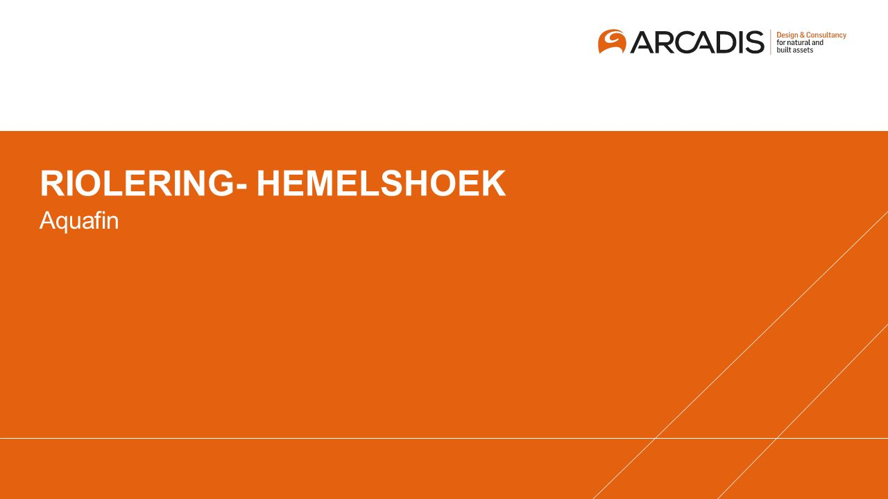 RIOLERING- HEMELSHOEK Aquafin