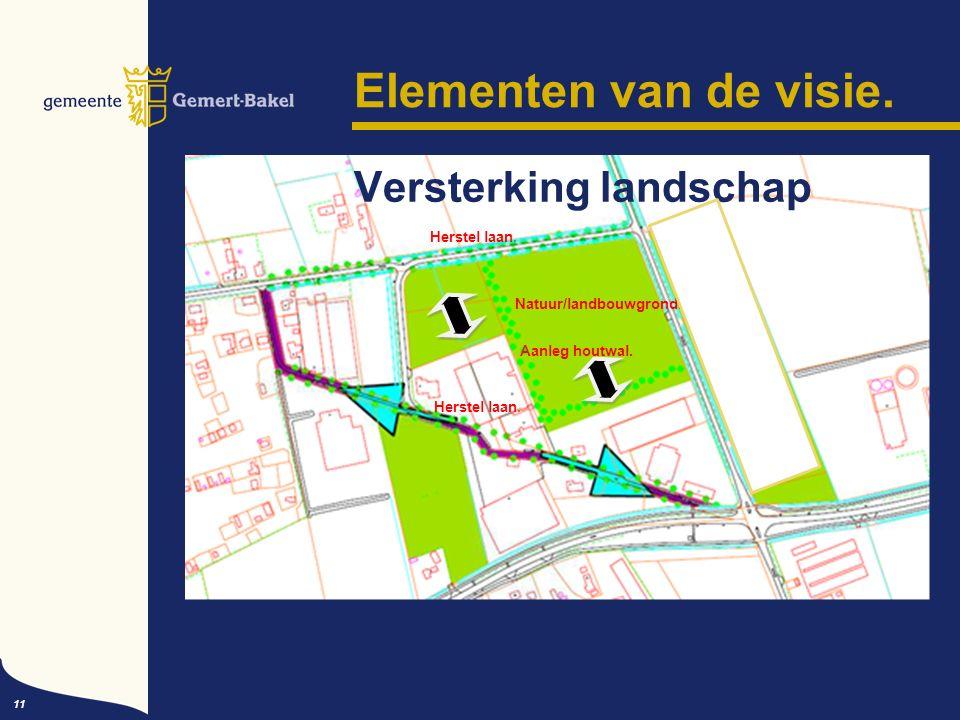 Elementen van de visie. 11 Versterking landschap Herstel laan.