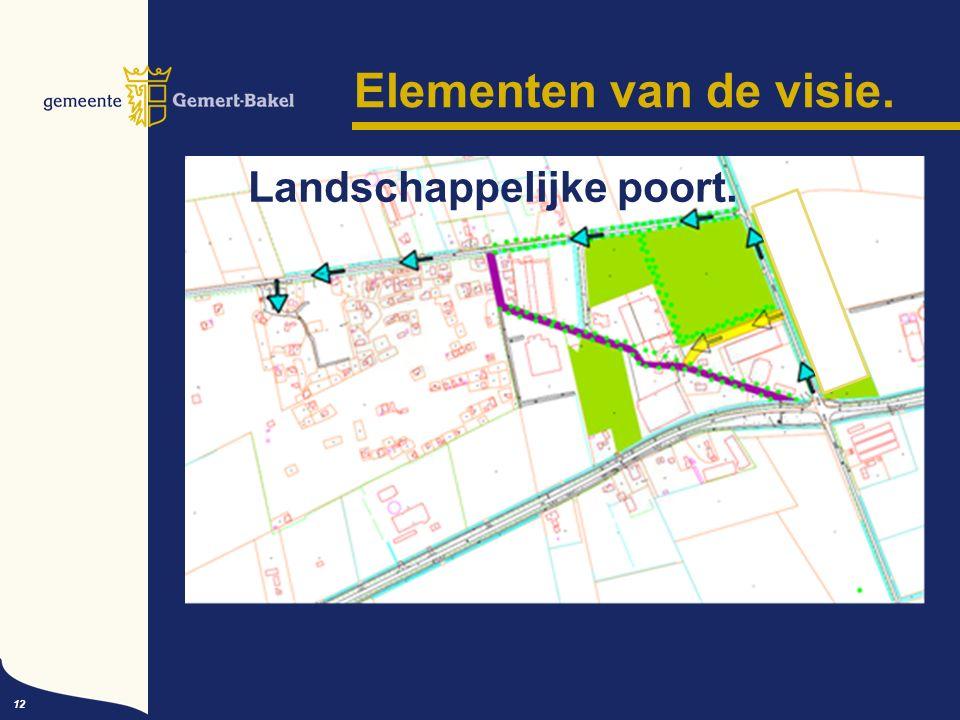 Elementen van de visie. 12 Landschappelijke poort.