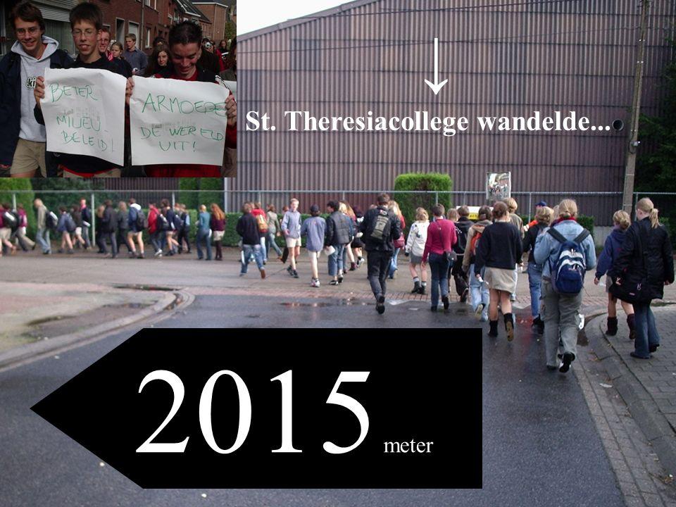 St. Theresiacollege wandelde... 2015 meter ↓