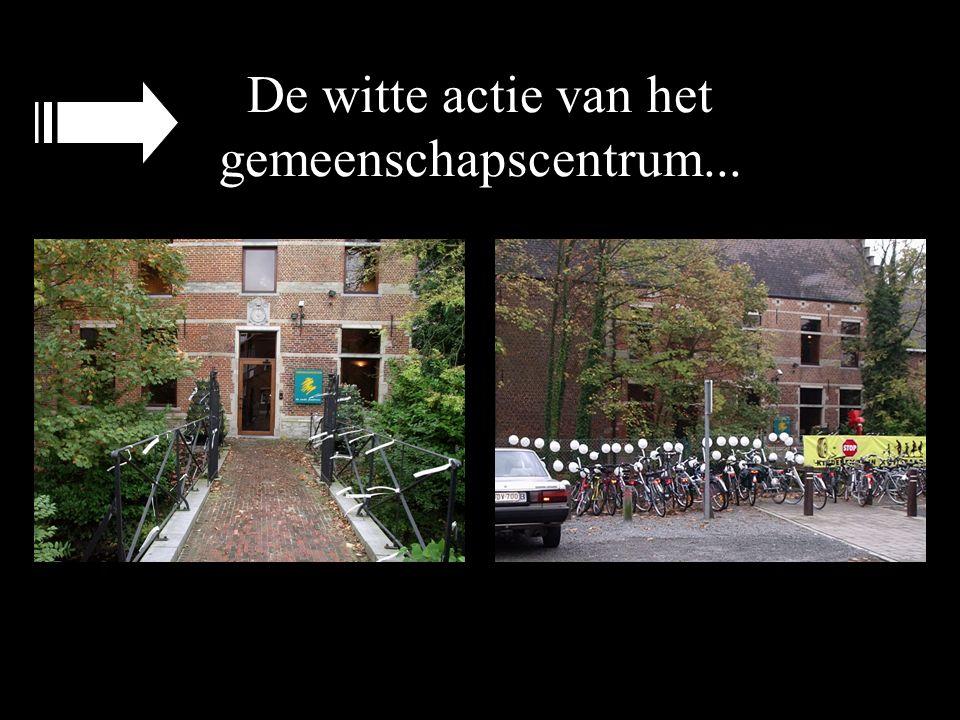 De witte actie van het gemeenschapscentrum...