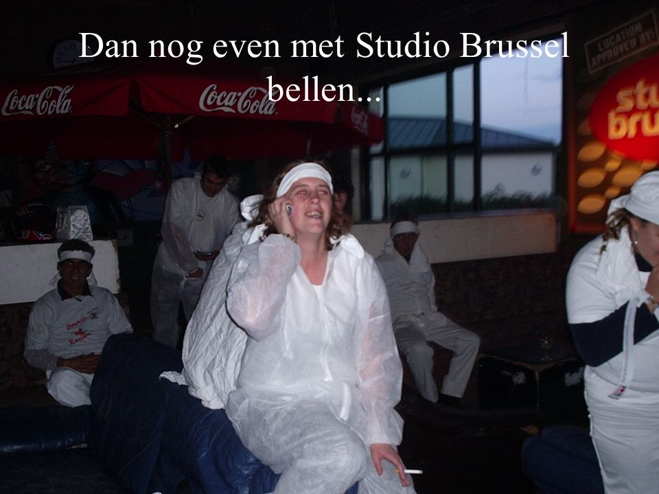 Dan nog even met Studio Brussel bellen...