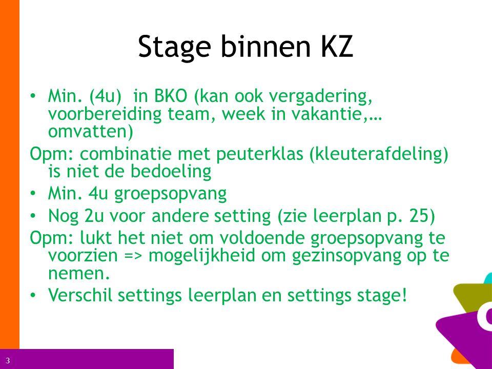 3 Stage binnen KZ Min.