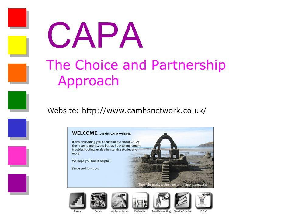 CAPA The Choice and Partnership Approach Website: http://www.camhsnetwork.co.uk/
