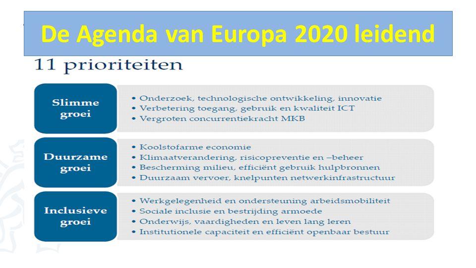 De Agenda van Europa 2020 leidend 11 prioriteiten