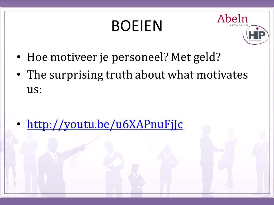 Hoe motiveer je personeel? Met geld? The surprising truth about what motivates us: http://youtu.be/u6XAPnuFjJc
