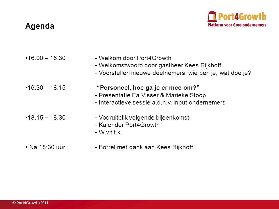 2 Agenda 16.00 – 16.30- Welkom door Port4Growth - Welkomstwoord door gastheer Kees Rijkhoff - Voorstellen nieuwe deelnemers; wie ben je, wat doe je? 1