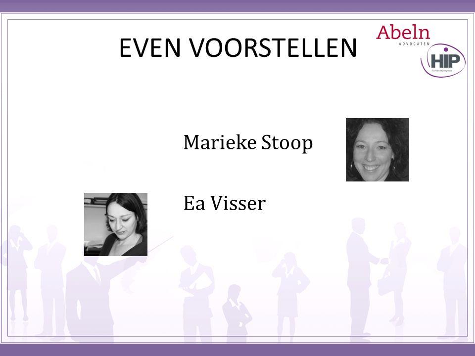 EVEN VOORSTELLEN Marieke Stoop Ea Visser