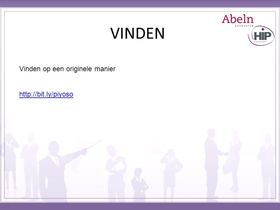 VINDEN Vinden op een originele manier http://bit.ly/piyoso