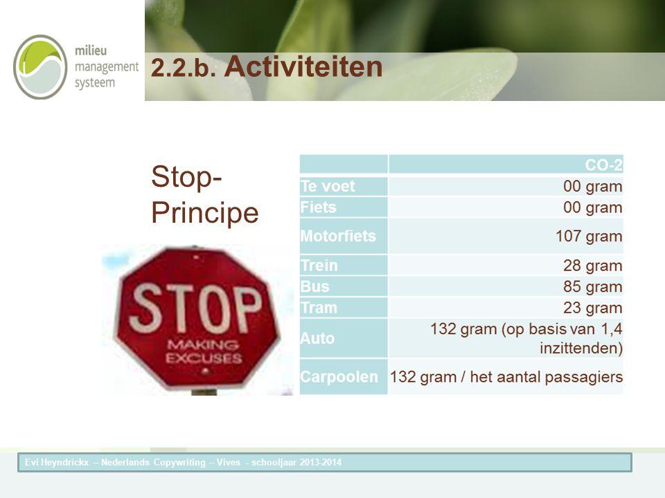 Herneming van de titel van de presentatieAuteur van de presentatie 2.2.b.