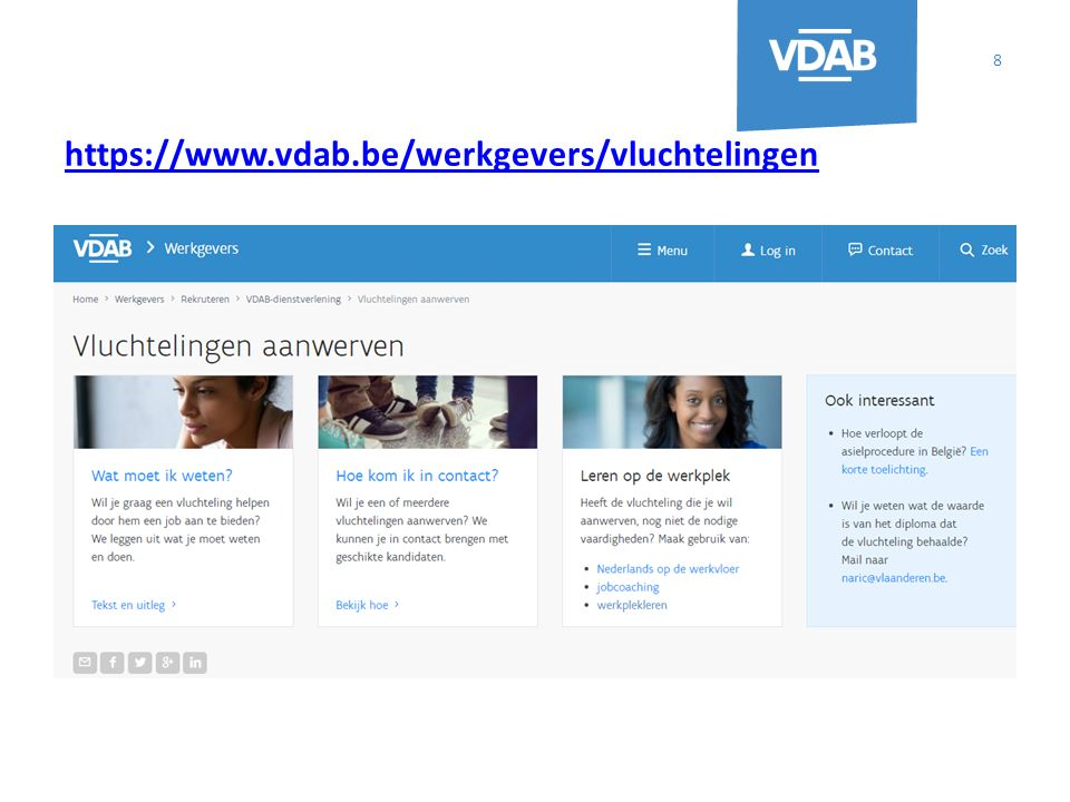 Contactpersonen Antwerpen: christine.dorny@vdab.be, GSM 0479 934 848 christine.dorny@vdab.be Limburg: connie.machon@vdab.be, GSM 0498 945 775 connie.machon@vdab.be Oost-Vlaanderen: helga.vanheysbroeck@vdab.be, GSM 0496 720 616 helga.vanheysbroeck@vdab.be Vlaams-Brabant: elke.cleymans@vdab.be, GSM 0497 519 045 elke.cleymans@vdab.be West-Vlaanderen: henk.vandenbroucke@vdab.be, 0487 626 769 henk.vandenbroucke@vdab.be Brussel: esther.soeryanto@vdab.be, 0477 874 360 esther.soeryanto@vdab.be 9 Provinciale uitvoering Programmamanager: patrick.n.vercruysse@vdab.be, GSM 0499 541 704 patrick.n.vercruysse@vdab.be