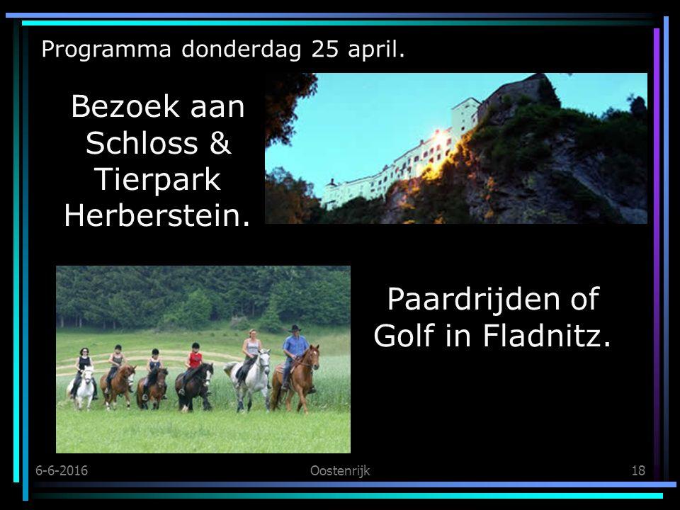 6-6-2016Oostenrijk18 Programma donderdag 25 april.