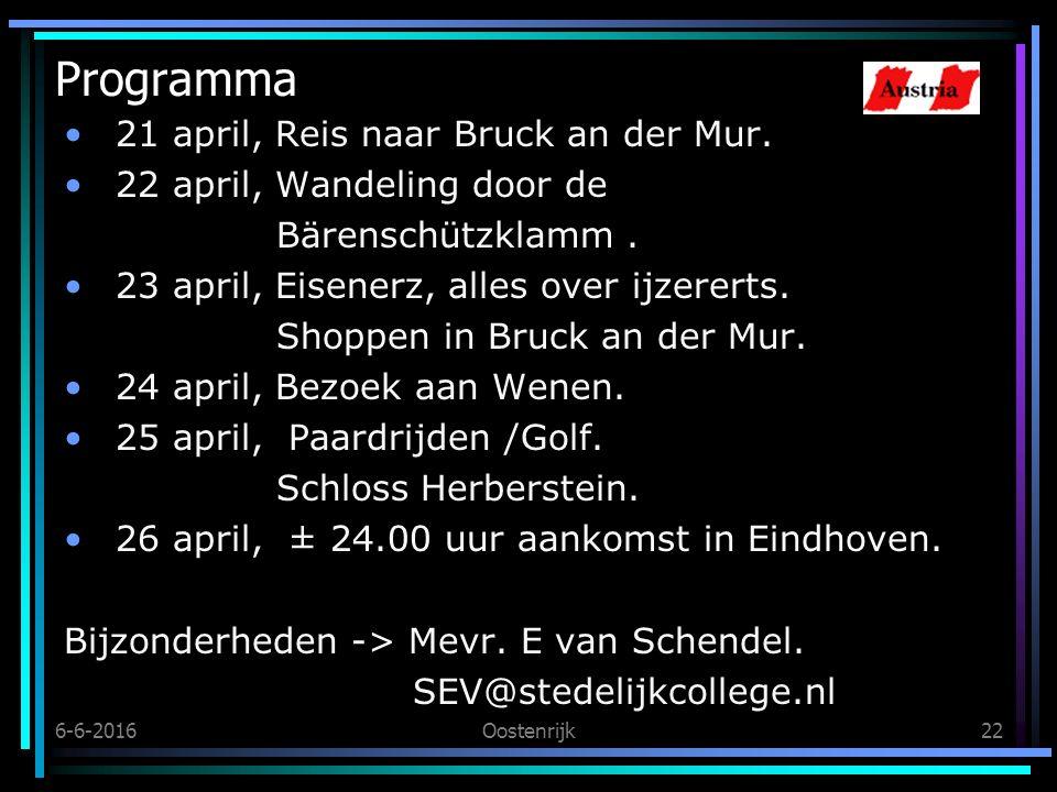 6-6-2016Oostenrijk22 Programma 21 april,Reis naar Bruck an der Mur.