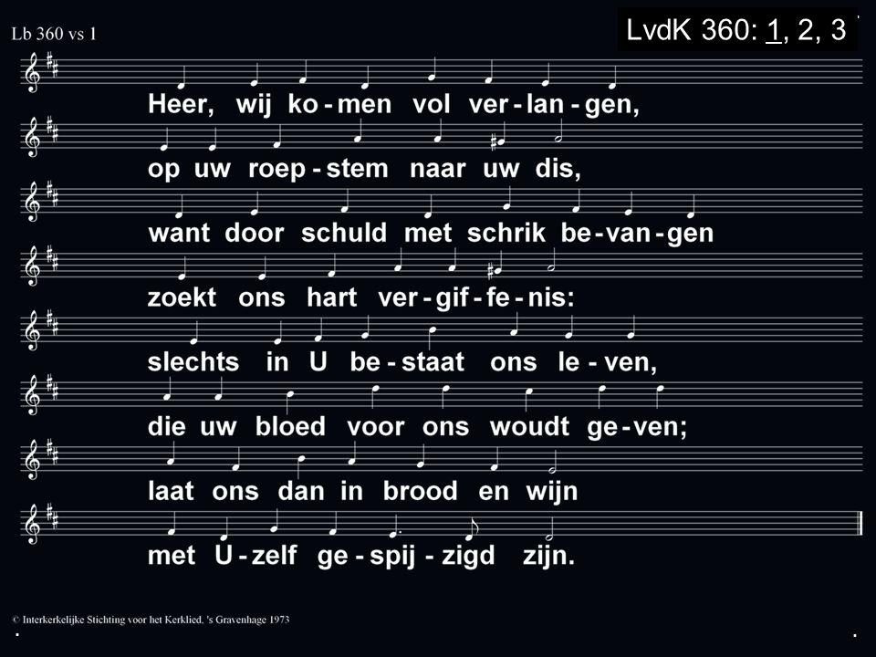 ... LvdK 360: 1, 2, 3