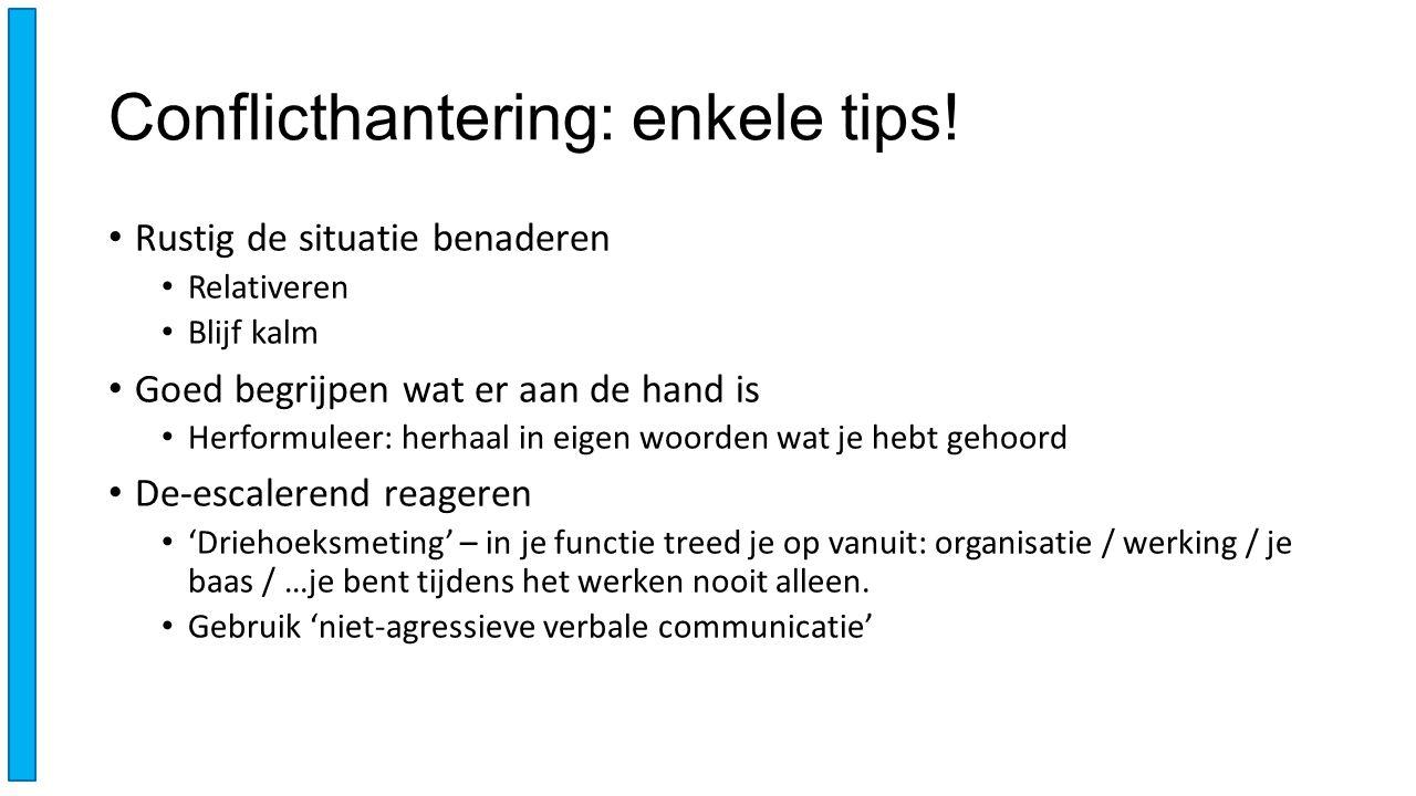 Conflicthantering: enkele tips.