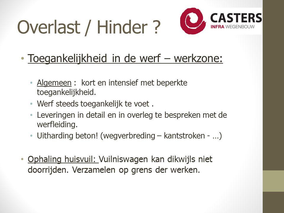 Overlast / Hinder .