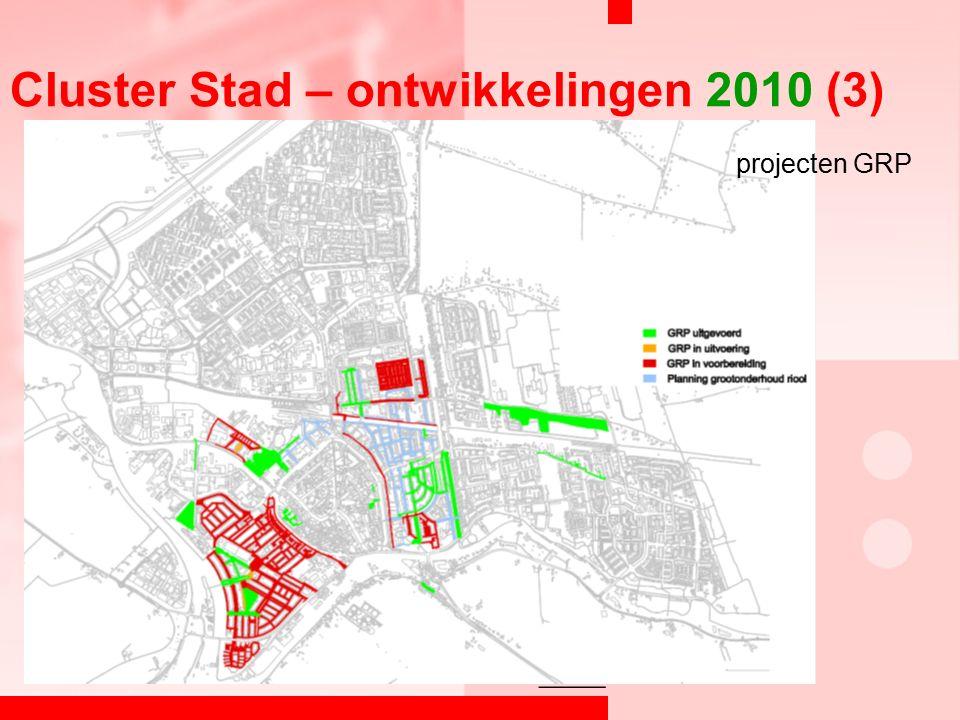 Cluster Stad – ontwikkelingen 2010 (3) projecten GRP