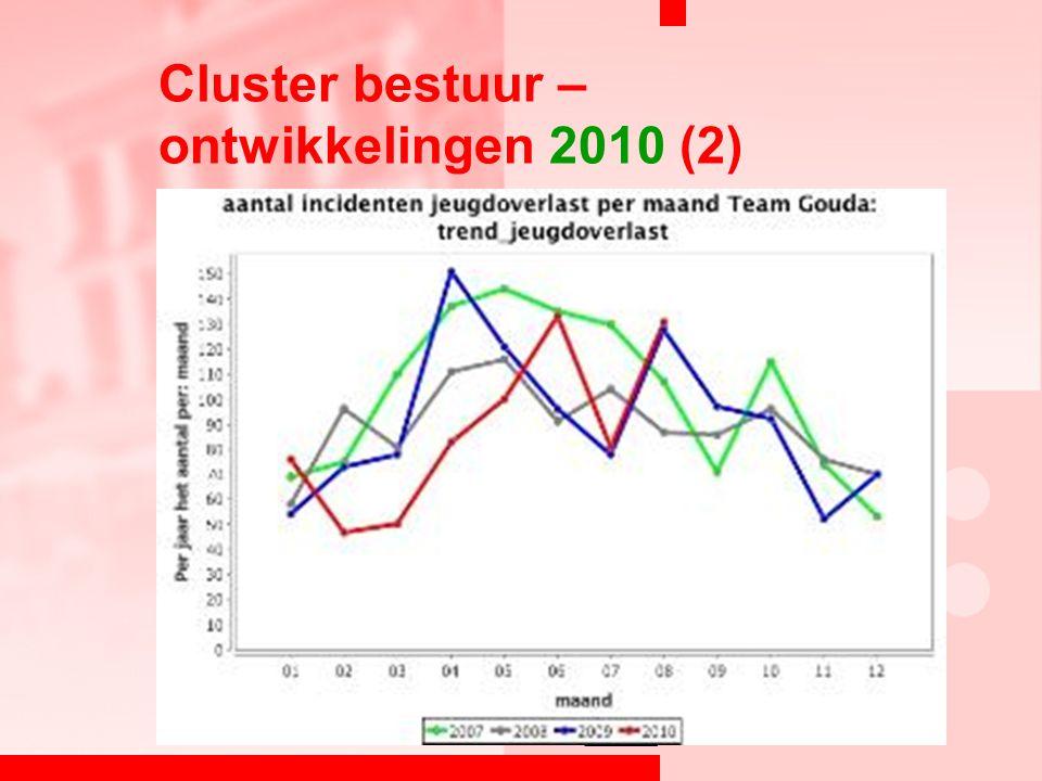 Cluster bestuur – ontwikkelingen 2010 (2)