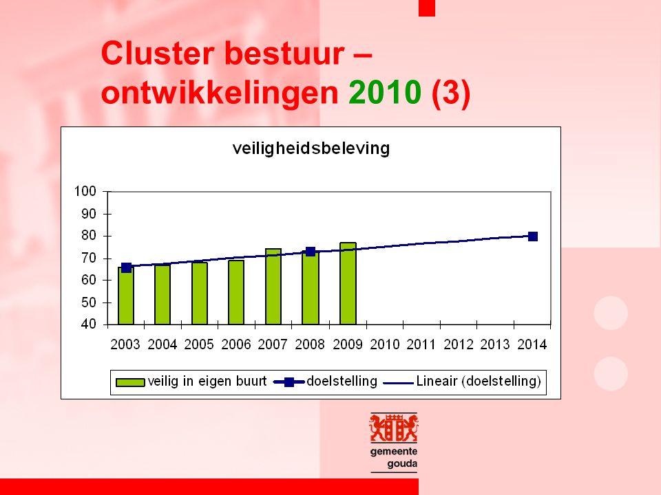 Cluster bestuur – ontwikkelingen 2010 (3)