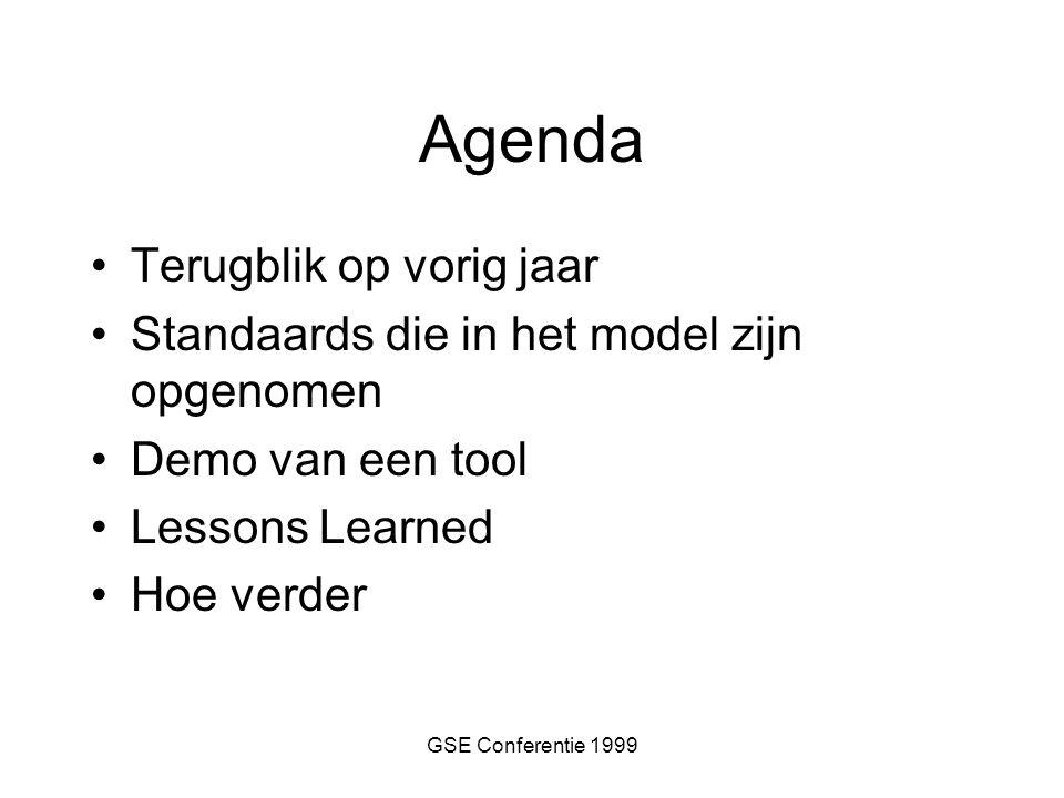 GSE Conferentie 1999 Hoe nu verder ?