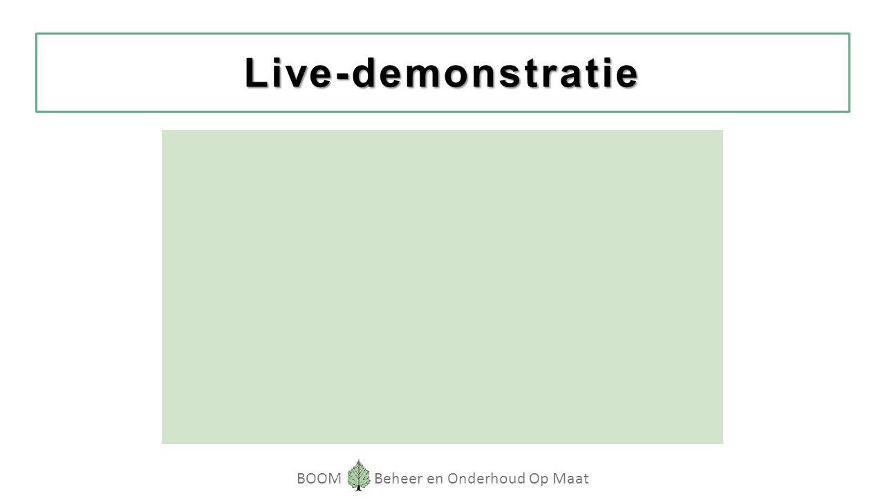 BOOM Beheer en Onderhoud Op Maat Live-demonstratie