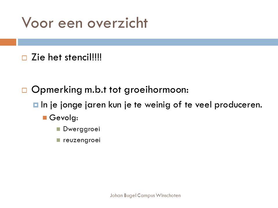 Johan Bugel Campus Winschoten Voor een overzicht  Zie het stencil!!!.