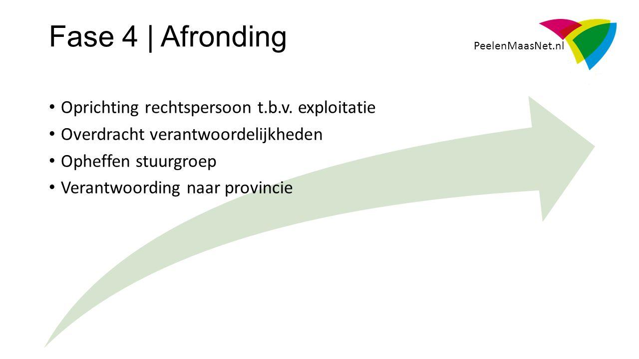 PeelenMaasNet.nl Oprichting rechtspersoon t.b.v.
