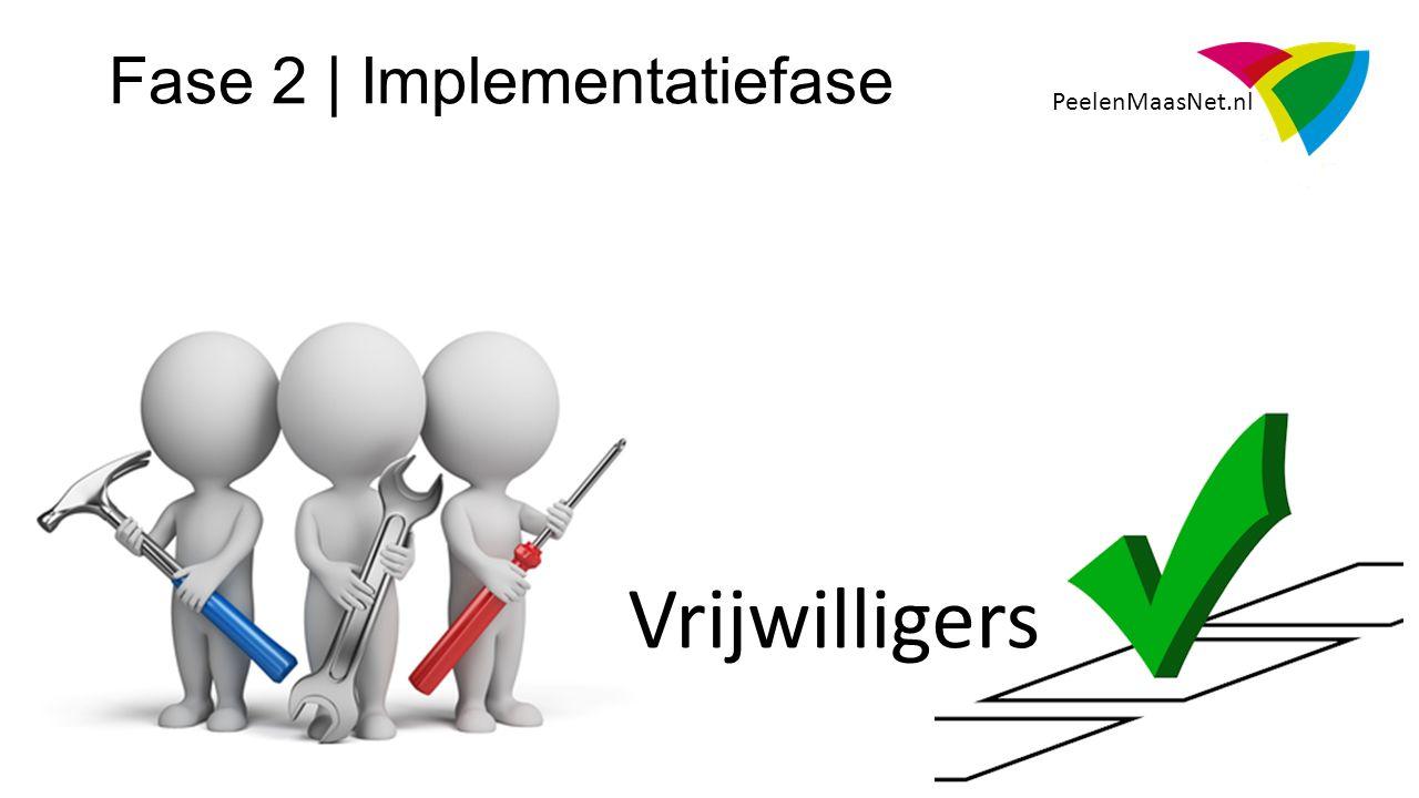 PeelenMaasNet.nl Fase 2 | Implementatiefase Vrijwilligers