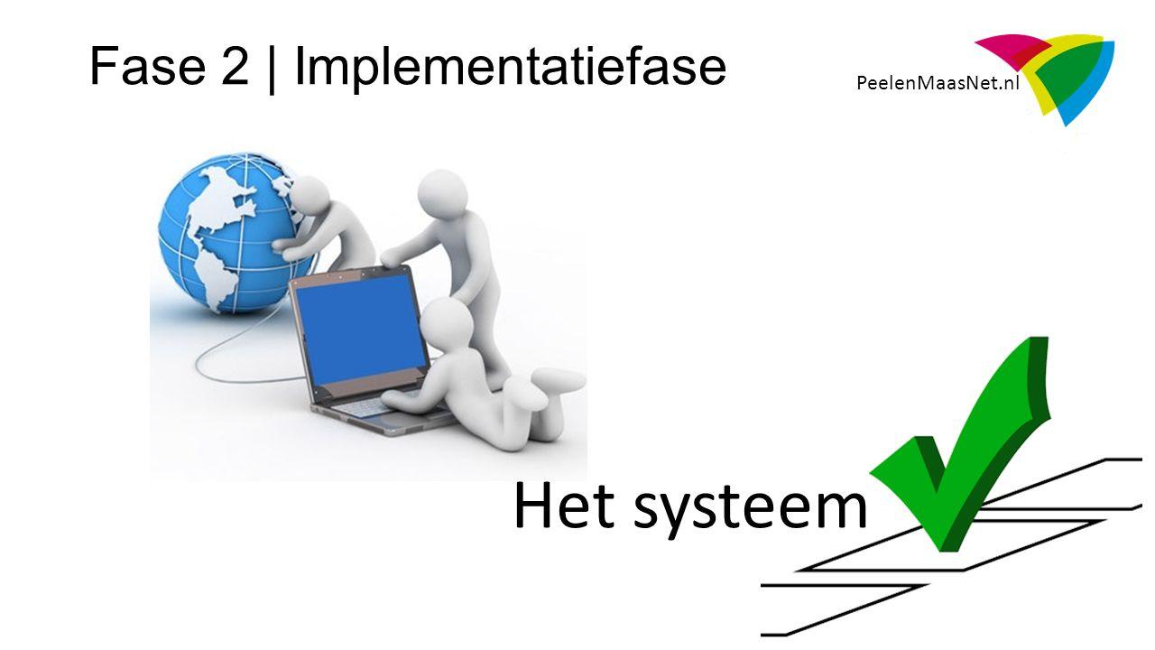 PeelenMaasNet.nl Fase 2 | Implementatiefase Het systeem