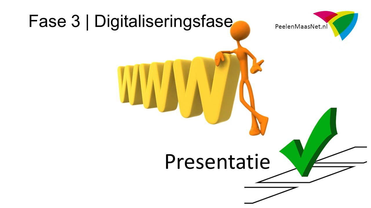 PeelenMaasNet.nl Presentatie Fase 3 | Digitaliseringsfase