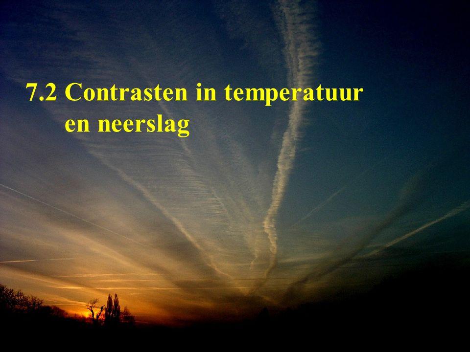 7.2 Contrasten in temperatuur en neerslag