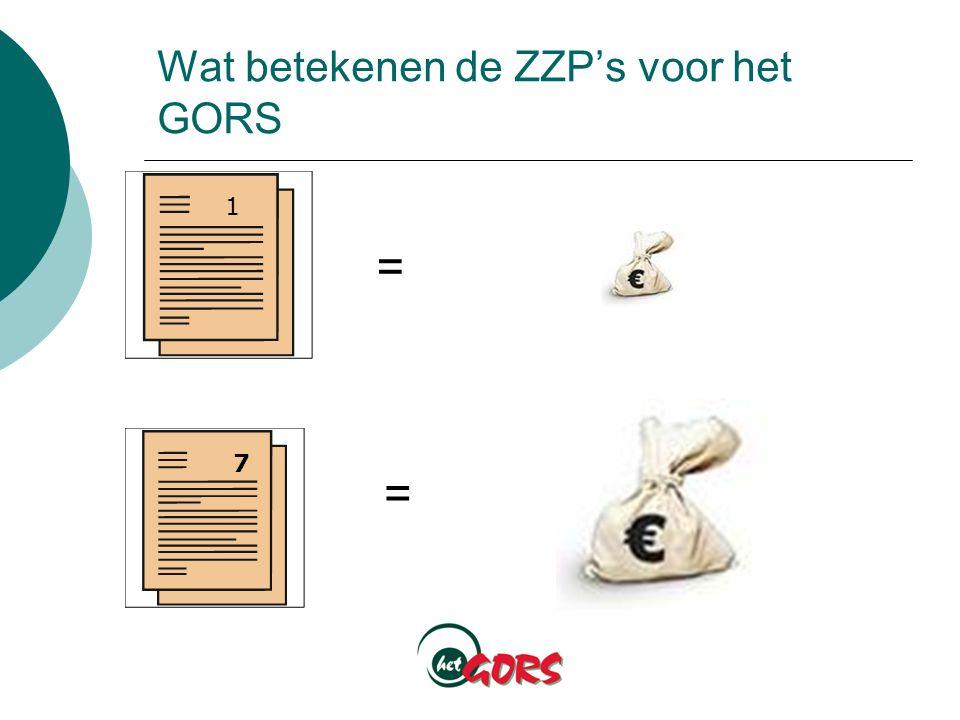 Wat betekenen de ZZP's voor het GORS 1 = = 7