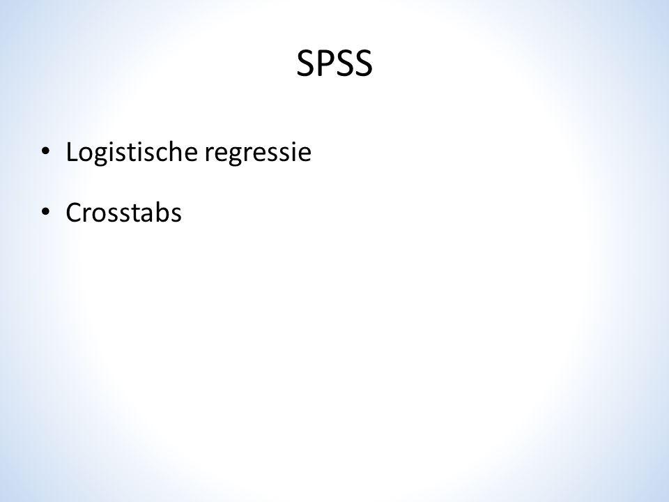 SPSS Logistische regressie Crosstabs