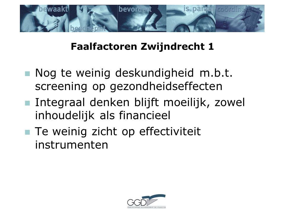 Faalfactoren Zwijndrecht 1 Nog te weinig deskundigheid m.b.t.