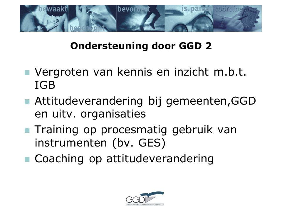 Ondersteuning door GGD 2 Vergroten van kennis en inzicht m.b.t.