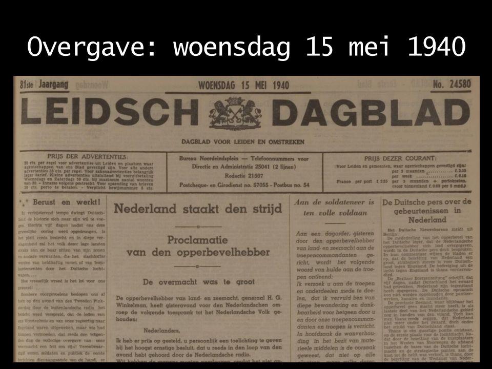 Rotterdam: dinsdag 14 mei 1940