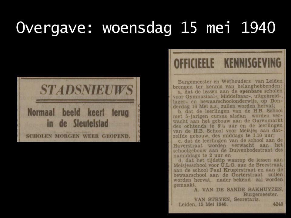 Overgave: woensdag 15 mei 1940