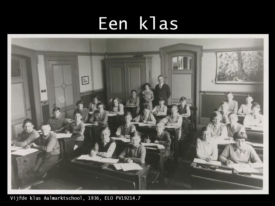 De school Aalmarktschool, 1938. Foto B.B.M. Jansen, ELO PV3309.34