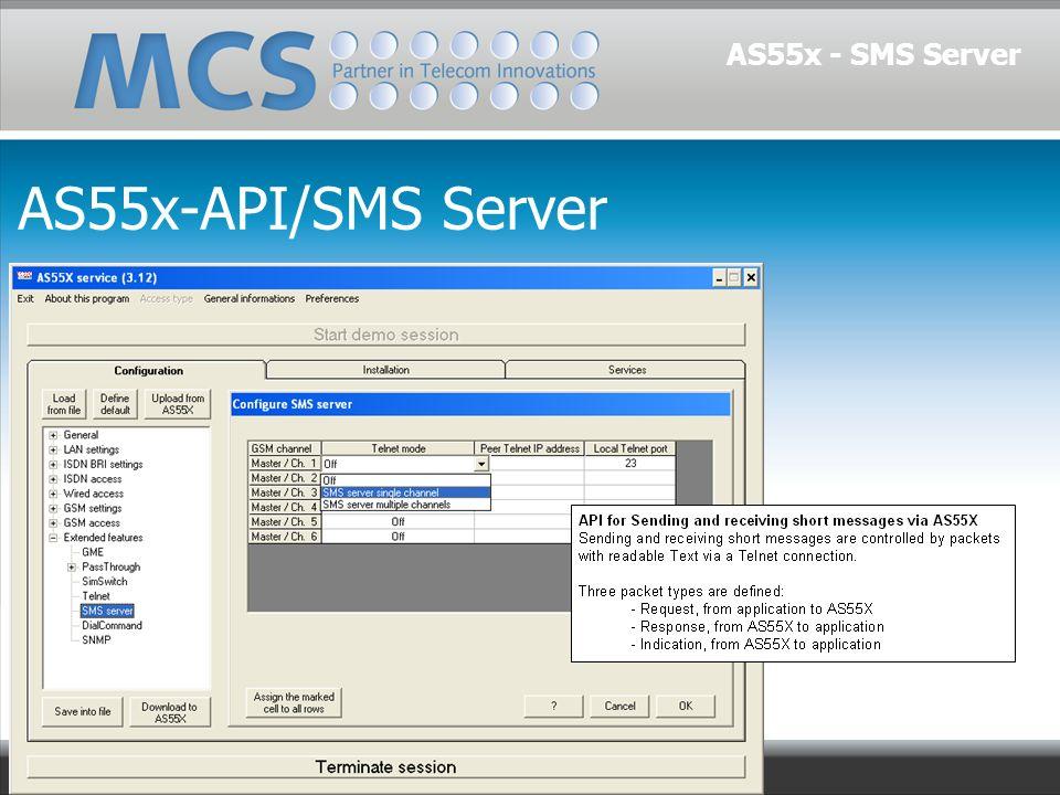 AS55x-API/SMS Server AS55x - SMS Server