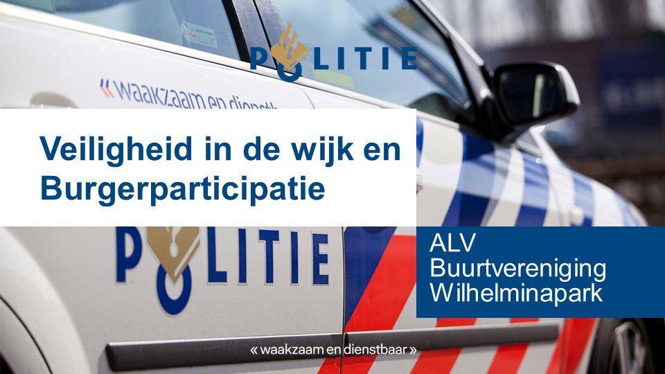 Veiligheid in de wijk en Burgerparticipatie ALV Buurtvereniging Wilhelminapark